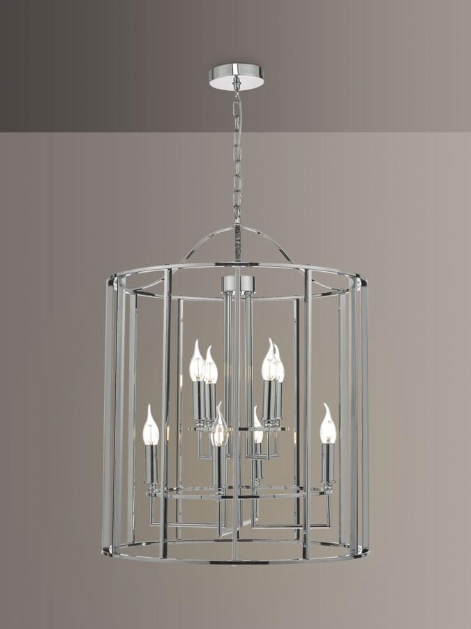 Dar Myka Lantern Ceiling Light, Polished Chrome