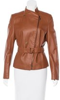 Akris Punto Leather Tailored Jacket