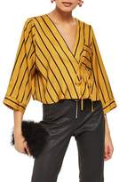 Topshop Stripe Tie Wrap Kimono Top