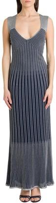 M Missoni V-Neck Knitted Long Dress