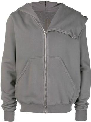 Rick Owens zipped long-sleeve hoodie