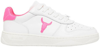 Windsor Smith Universe-W White Neon Pink Sneaker