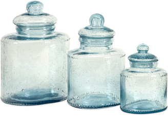 IMAX Cyprus Set Of 3 Glass Canisters