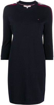 Tommy Hilfiger Stripe Trim Sweatshirt Dress
