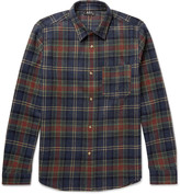 A.p.c. - Slim-fit Checked Wool-blend Shirt
