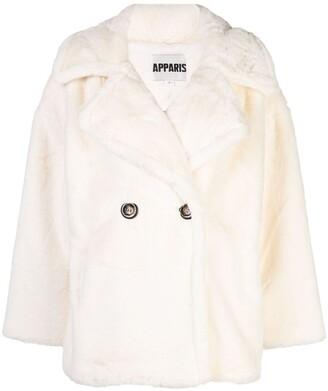Apparis Anais double-breasted faux-fur coat