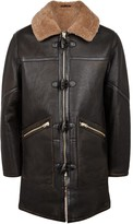Schott Nyc M-90 Shearling-lined Leather Duffle Coat
