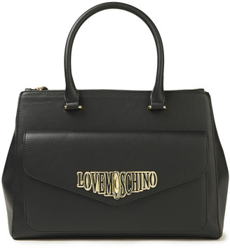 Love Moschino Logo-embellished Faux Leather Tote