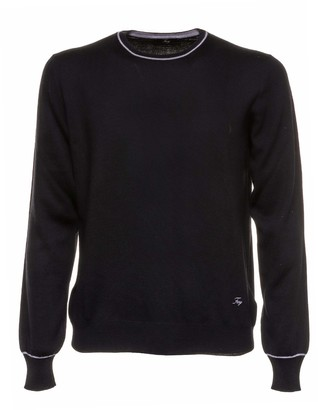 Fay Black Wool Sweater