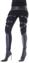 Me Moi Black Contrast-Texture Shaping Leggings