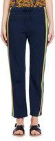 Isabel Marant Dobbs Side-Stripe Track Pants, Blue