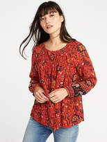 Old Navy Smocked Crinkle-Gauze Blouse for Women