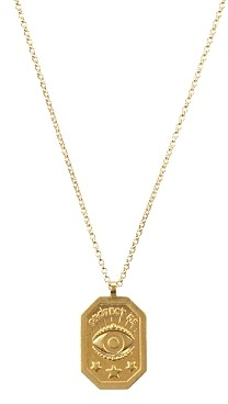 Dogeared Protect Me, Evil Eye Tablet Necklace, 18