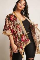 Forever 21 FOREVER 21+ Woven Heart Plus Size Velvet Kimono