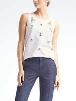 Banana Republic Pineapple Embellished Tank
