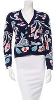 Chanel Cashmere Floral Print Cardigan w/ Tags