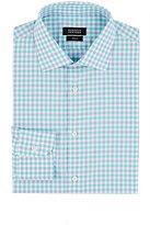 Barneys New York Men's Checked Shirt-GREEN