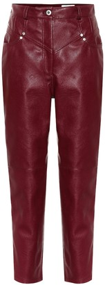 Stella McCartney Exclusive to Mytheresa High-rise faux leather straight pants