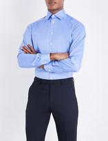 Eton Herringbone-patterned cotton shirt