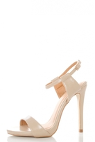 Quiz Nude PU Cut Out Strap Sandals