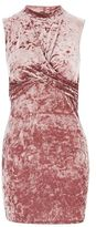 Topshop TALL Velvet Twist Front Mini Dress