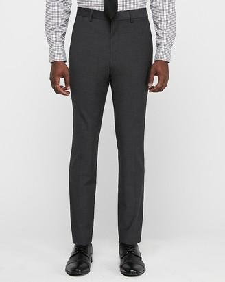 Express Slim Charcoal Wool Blend Wrinkle-Resistant Performance Suit Pant
