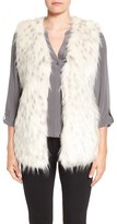 Via Spiga Women's Collarless Faux Fur Vest