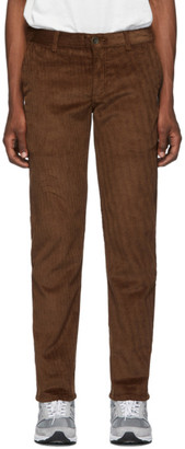 Naked & Famous Denim Denim Brown Velvet Twill Chinos