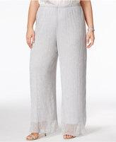 MSK Plus Size Sparkle Wide-Leg Pants