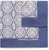 Turnbull & Asser Printed Linen Pocket Square