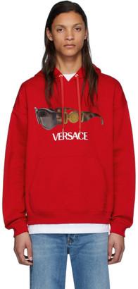 Versace Red Biggie Sunglasses Hoodie