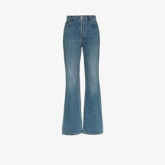 Balenciaga High Waist Straight Leg Jeans