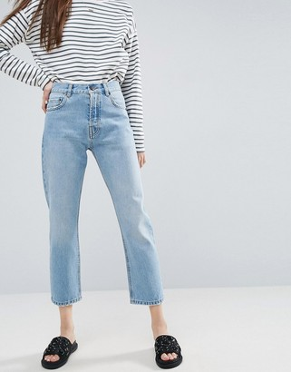 Cambridge Silversmiths ASOS DESIGN Florence authentic straight leg jeans in light mid wash blue
