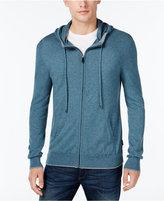 Michael Kors Men's Marled Knit Zip-Front Hoodie
