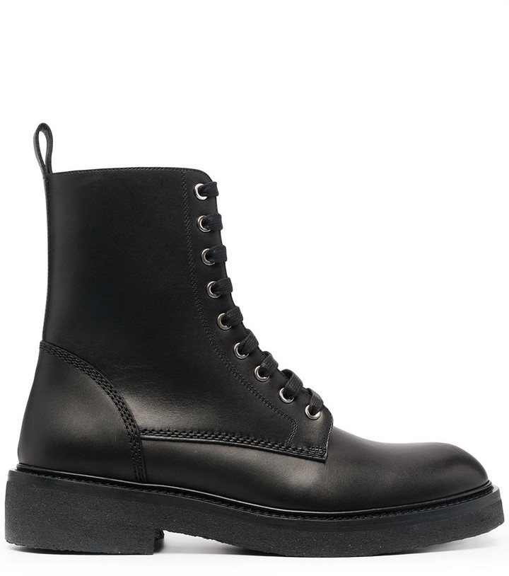 Amiri Leather Lace-Up Boots