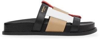 Burberry Colorblock Leather Slides