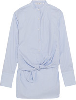 Helmut Lang Striped Cotton Shirt - Blue