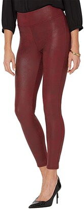 NYDJ Coated Leggings (Burgundy) Women's Casual Pants