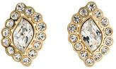 Christian Dior Crystal Clip On Earrings