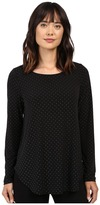 Karen Kane Silver Dot Shirttail Top