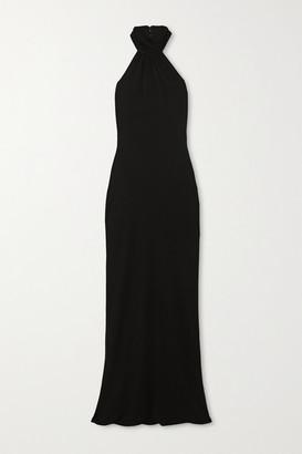 Brandon Maxwell Open-back Crepe Halterneck Gown - Black