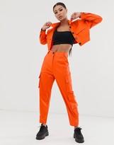 Asos Design DESIGN cargo suit pants in orange