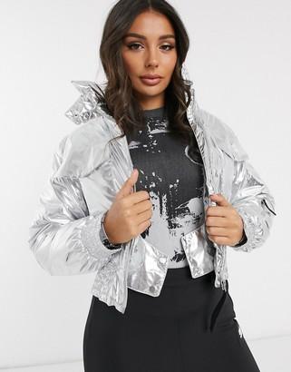 ASOS 4505 ski cropped bomber jacket