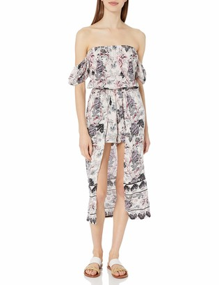 Angie Women's Off The Shoulder Printed Maxi Romper