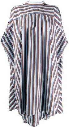 Henrik Vibskov Stripe Sleeveless Drape Dress