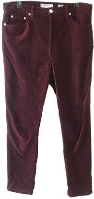 RE/DONE Burgundy Velvet Trousers