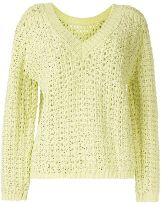 Ermanno Scervino Loose Weave V-Neck Jumper