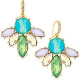 ABS by Allen Schwartz Gold-Tone Multi-Color Stone Drop Earrings