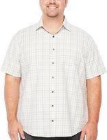 Van Heusen Short Sleeve Traveler Air Plaid Button-Front Shirt-Big and Tall