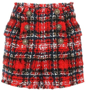 Balmain Checked tweed shorts